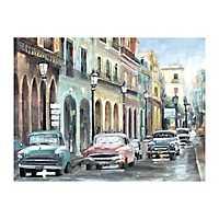 Vintage Cuban Colors Canvas Art Print