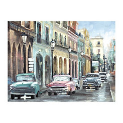 Vintage Cuban Colors Canvas Art Print