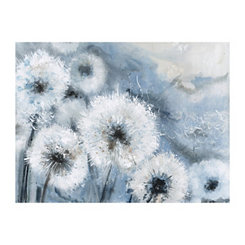 Light Blue Watercolor Wishes Canvas Art Print