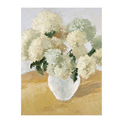 White Hydrangea Arrangement Canvas Art Print