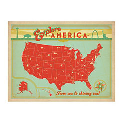 Explore America Canvas Art Print