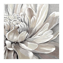 White Golden Whisper Canvas Art Print