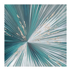 Teal Centerpoint Canvas Art Print