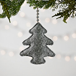Gray Knit Chevron Christmas Tree Ornament
