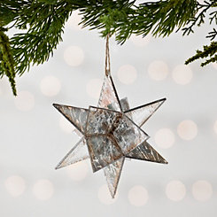 Silver Star with Copper Edge Ornament