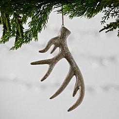 Glitter Crackle Antler Christmas Ornament
