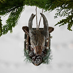 Reindeer Head Mount Ornament