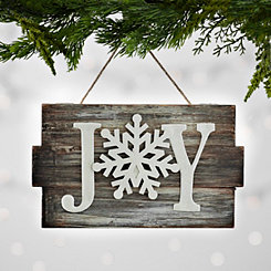 Joy Wood Plank Ornament