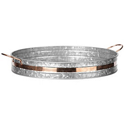 Galvanized and Copper Metal Tray