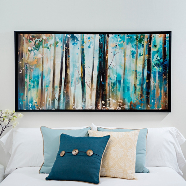 forest sunshine framed canvas art print