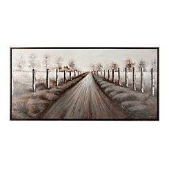Country Road Framed Canvas Art Print