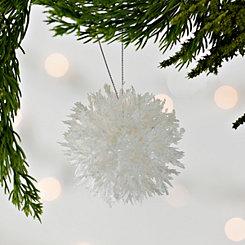 White Coral Ball Ornament