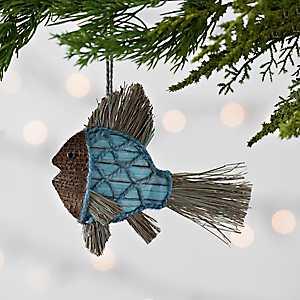 Blue Jute Fish Ornament