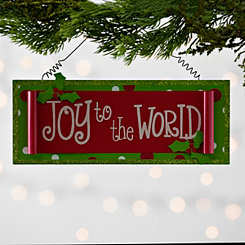 Joy to the World Scroll Ornament