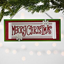 Merry Christmas Scroll Ornament