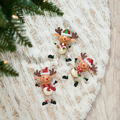 Dancing Reindeer Ornaments, Set of 3