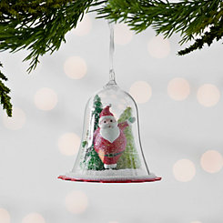 Santa Dome Scene Ornament