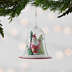 Santa Dome Scene Ornament