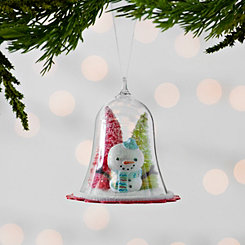 Snowman Dome Scene Ornament