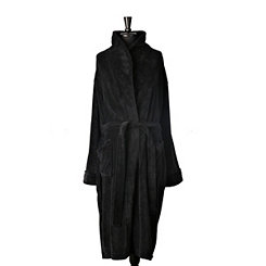 Plush Black Men's Robe