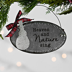 Snowman Galvanized Metal Sign Ornament