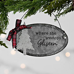 Tree Galvanized Metal Sign Ornament