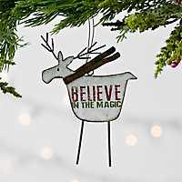 Reindeer Believe Ornament