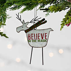 Reindeer Believe Ornament