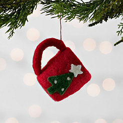 Red Hot Cocoa Mug Felt Ornament