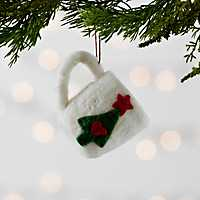 White Hot Cocoa Mug Felt Ornament