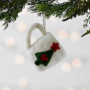 White Hot Cocoa Mug Felt Ornament