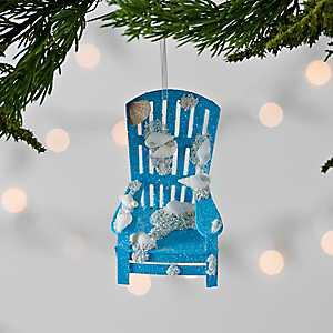 Blue Coastal Beach Chair Ornament