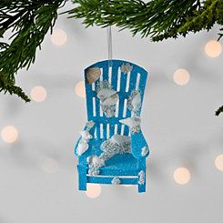 Blue Coastal Beach Chair Ornament