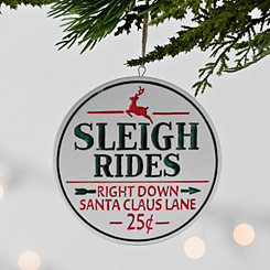 Sleigh Rides Ceramic Ornament