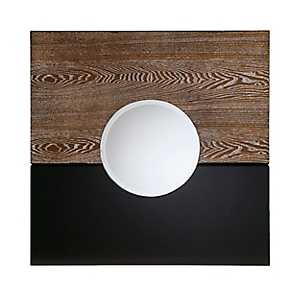 Black and Burnt Oak Christina Wall Mirror