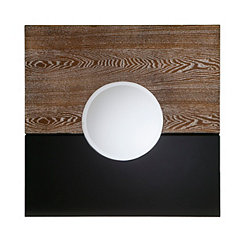 Holly and Martin Black and Burnt Oak Wall Mirror