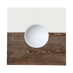 Holly and Martin White and Burnt Oak Wall Mirror