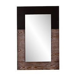 Holly and Martin Burnt Oak and Black Wall Mirror
