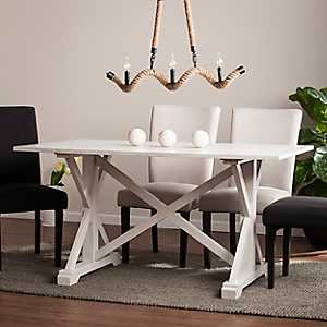 Annalise Distressed Farmhouse Dining Table