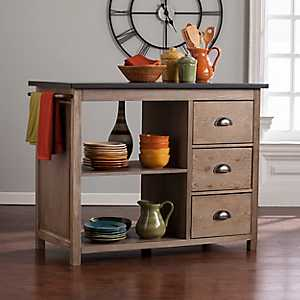 Traci Industrial Kitchen Island