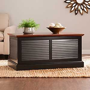 Turing Louvered Trunk Coffee Table