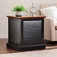 Turing Louvered Trunk End Table