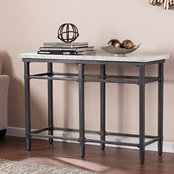 Noether Faux Marble Console Table