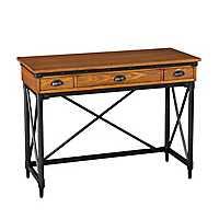 Kiara 2-Drawer Industrial Writing Desk