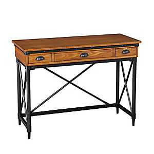 Kiara 2-Drawer Industrial Writing Desk