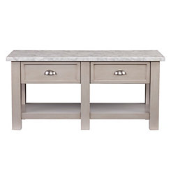 Felicia Faux Marble Coffee Table
