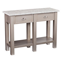 Felicia Faux Marble Console Table