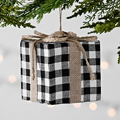 Buffalo Check Black and White Gift Ornament