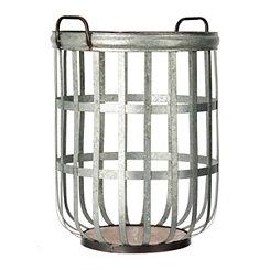 Woven Galvanized Metal Basket