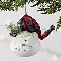 Fabric Snowman Head Ornament